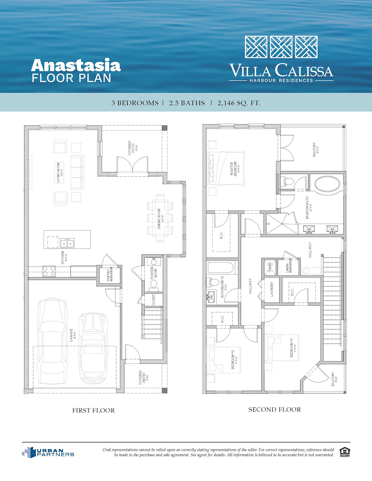 Anastasia floor plan at Villa Calissa