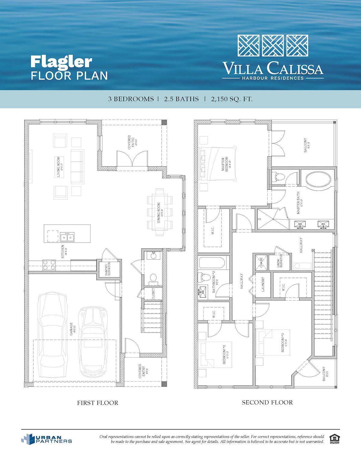 Flagler floor plan at Villa Calissa