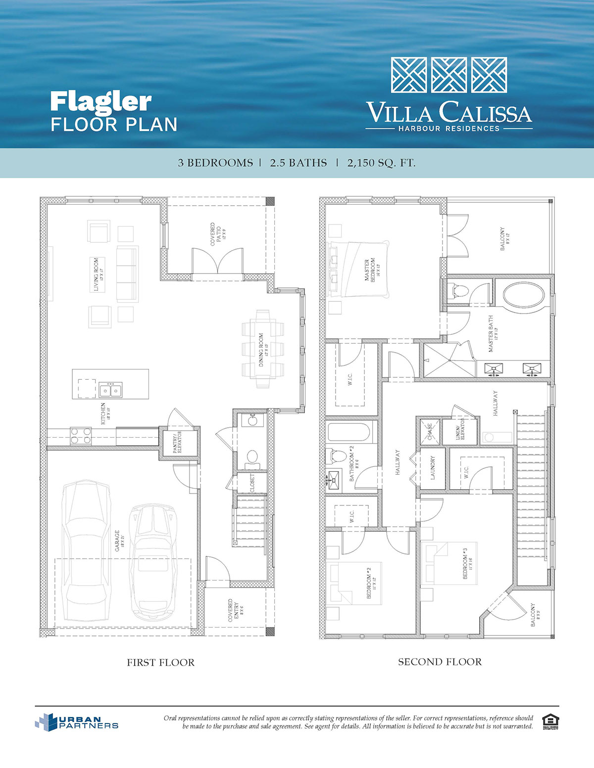 Flagler floor plan at Villa Calissa