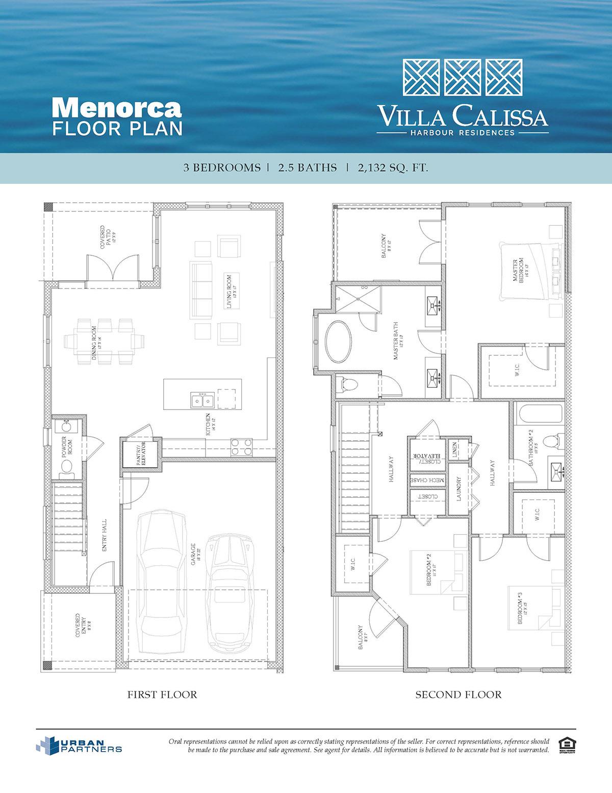 Menorca floor plan at Villa Calissa