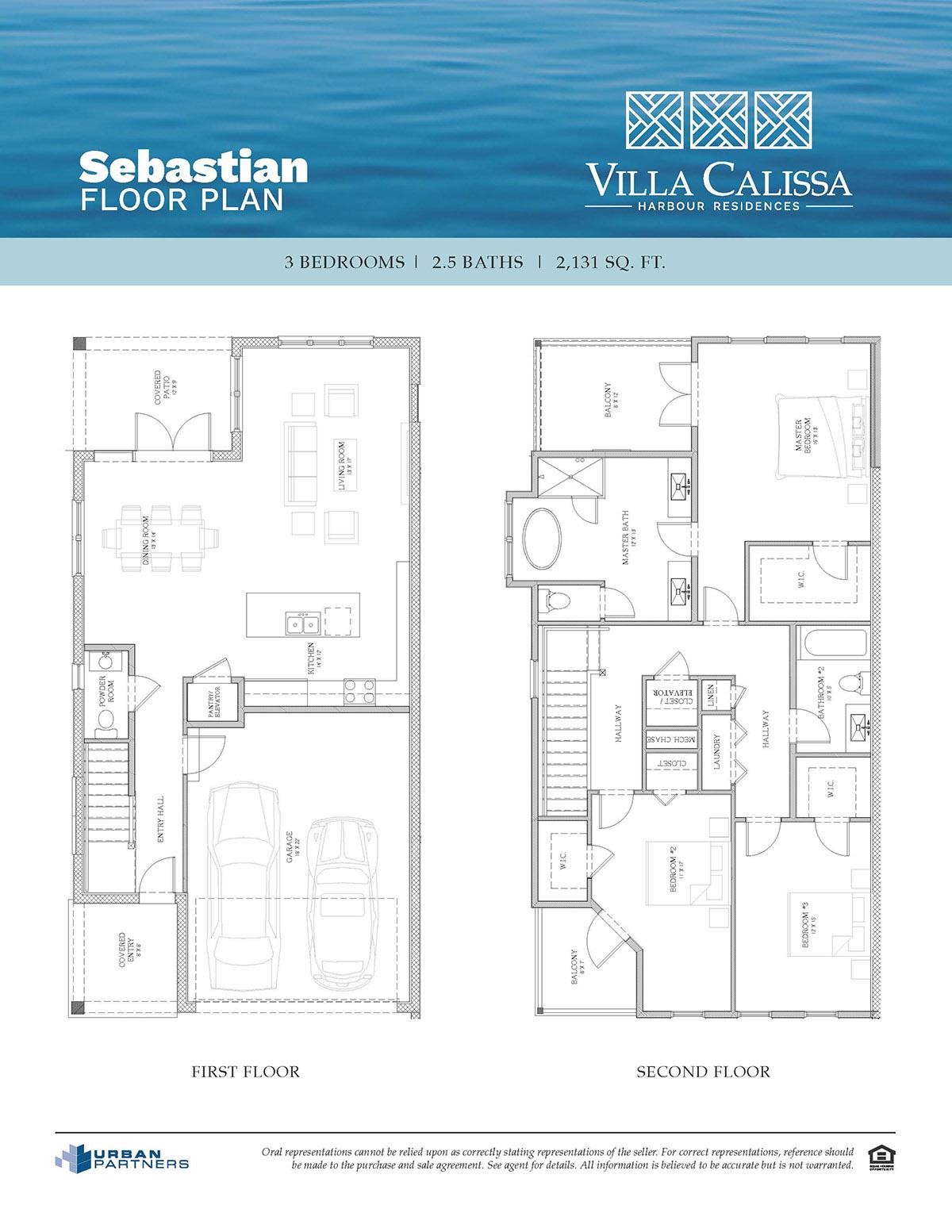 Sebastian floorplan at Villa Calissa