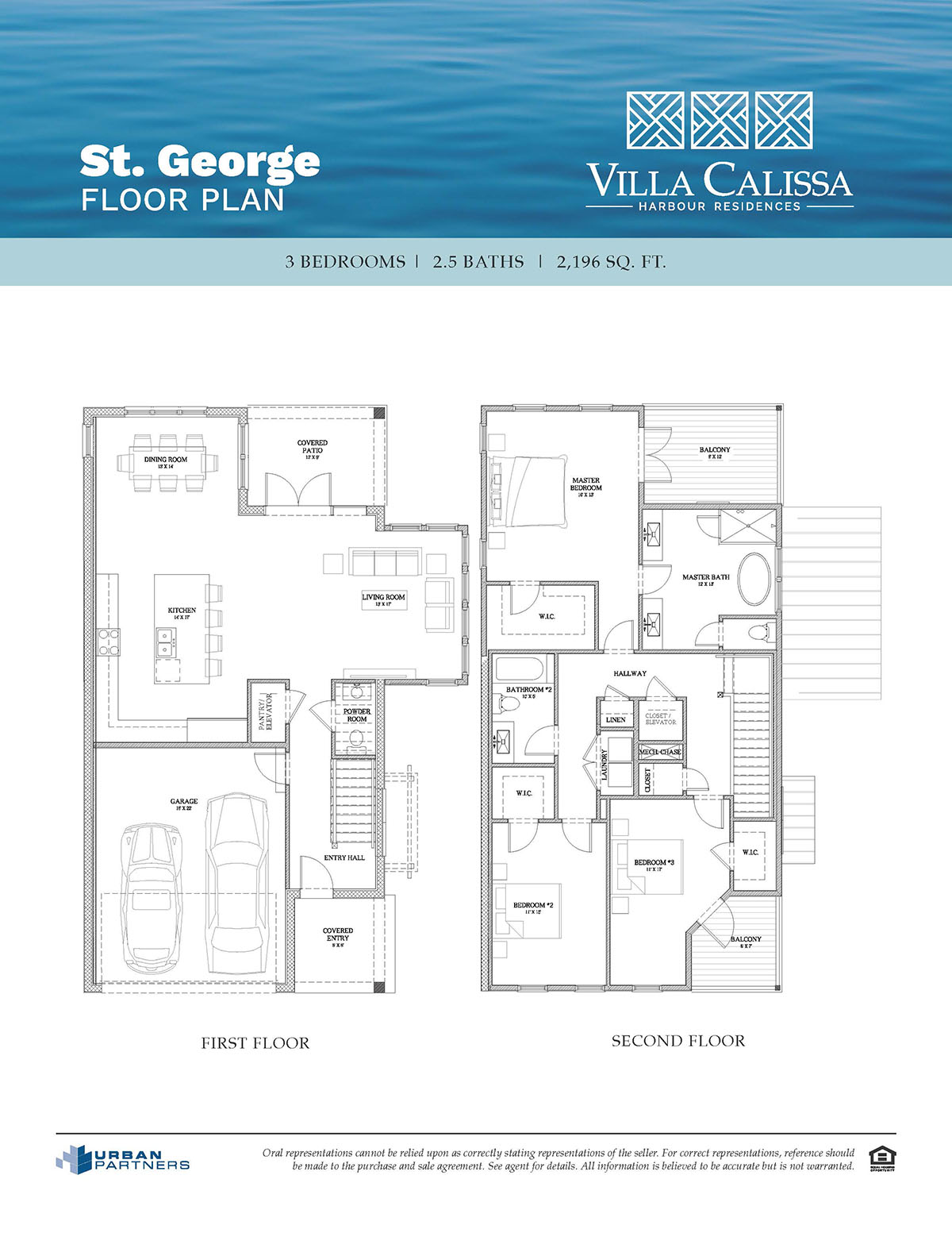 St. George floor plan at Villa Calissa