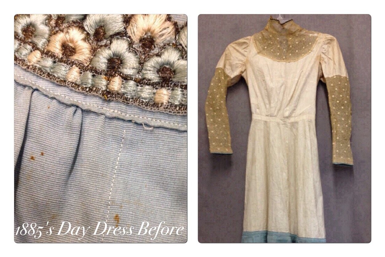 1885 Day Dress Before