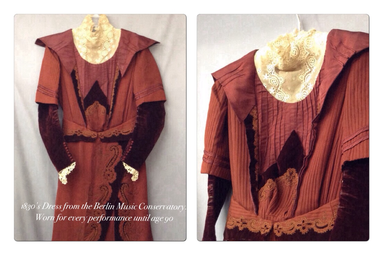 1830's dress from the Berlin Music Conservatory