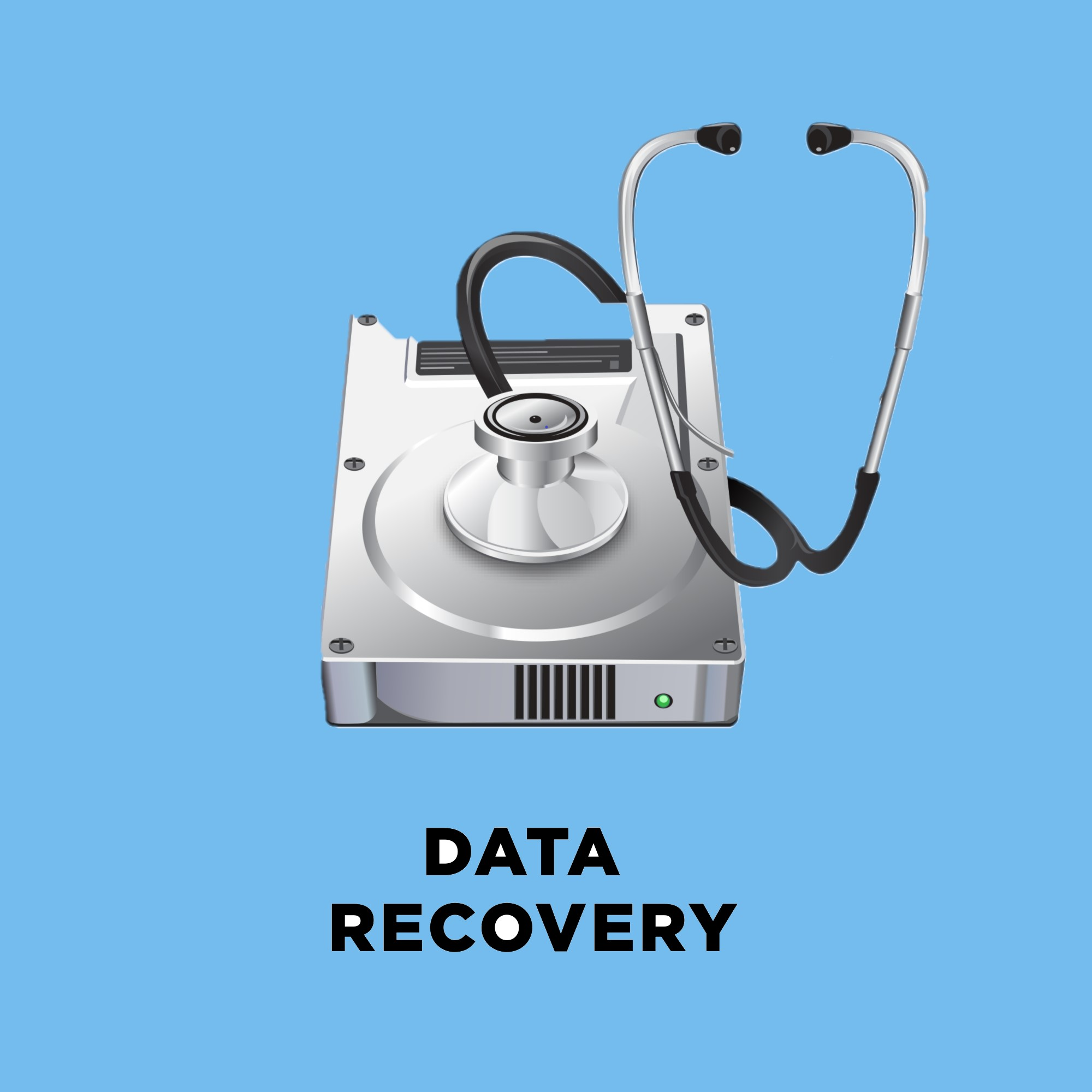 data recovery with light blue background