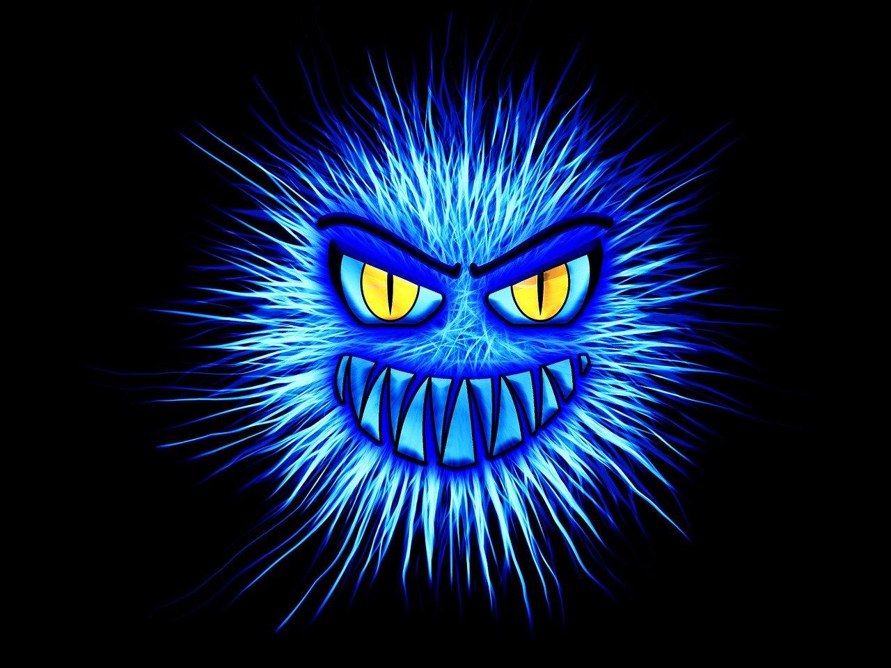 monster, blue, internet
