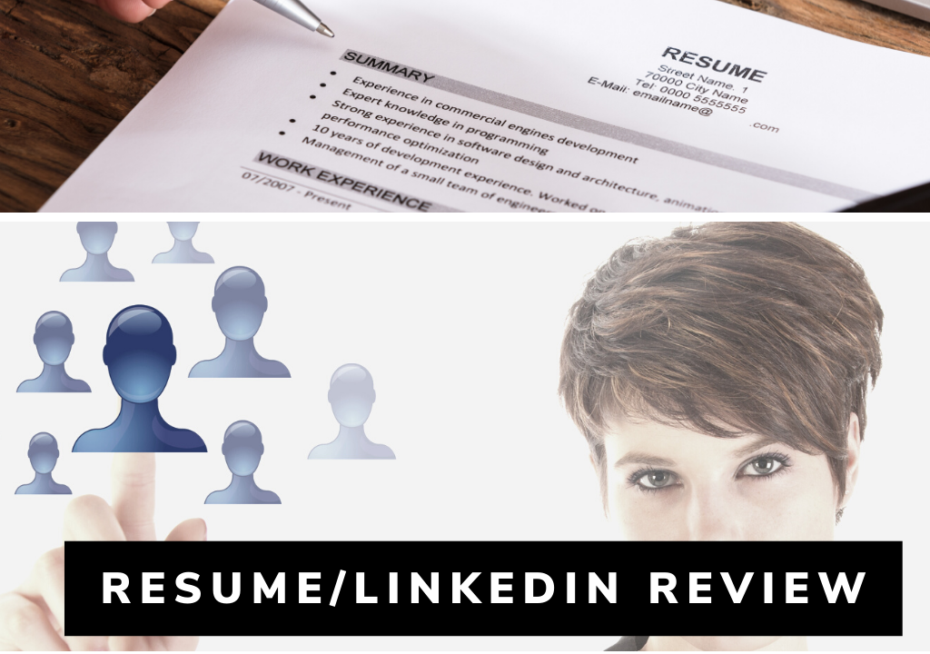 Resume and LinkedIn Review Button