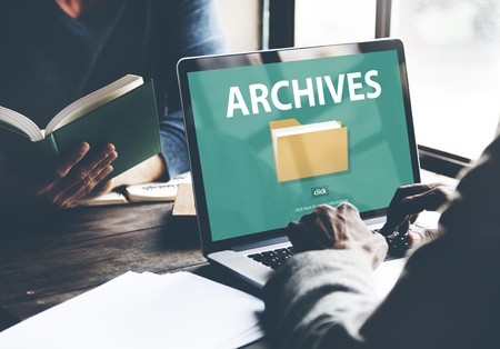 Archive folder on a computer screen