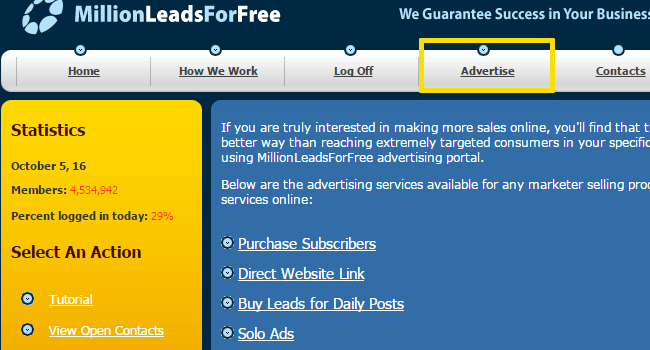 Review of the Free Millions of Leads System