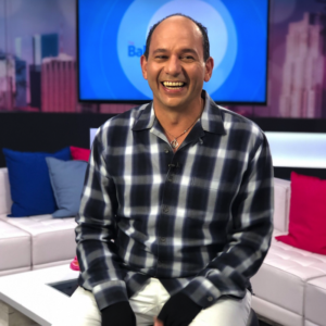 Ralph Pagano on set smiling as usual