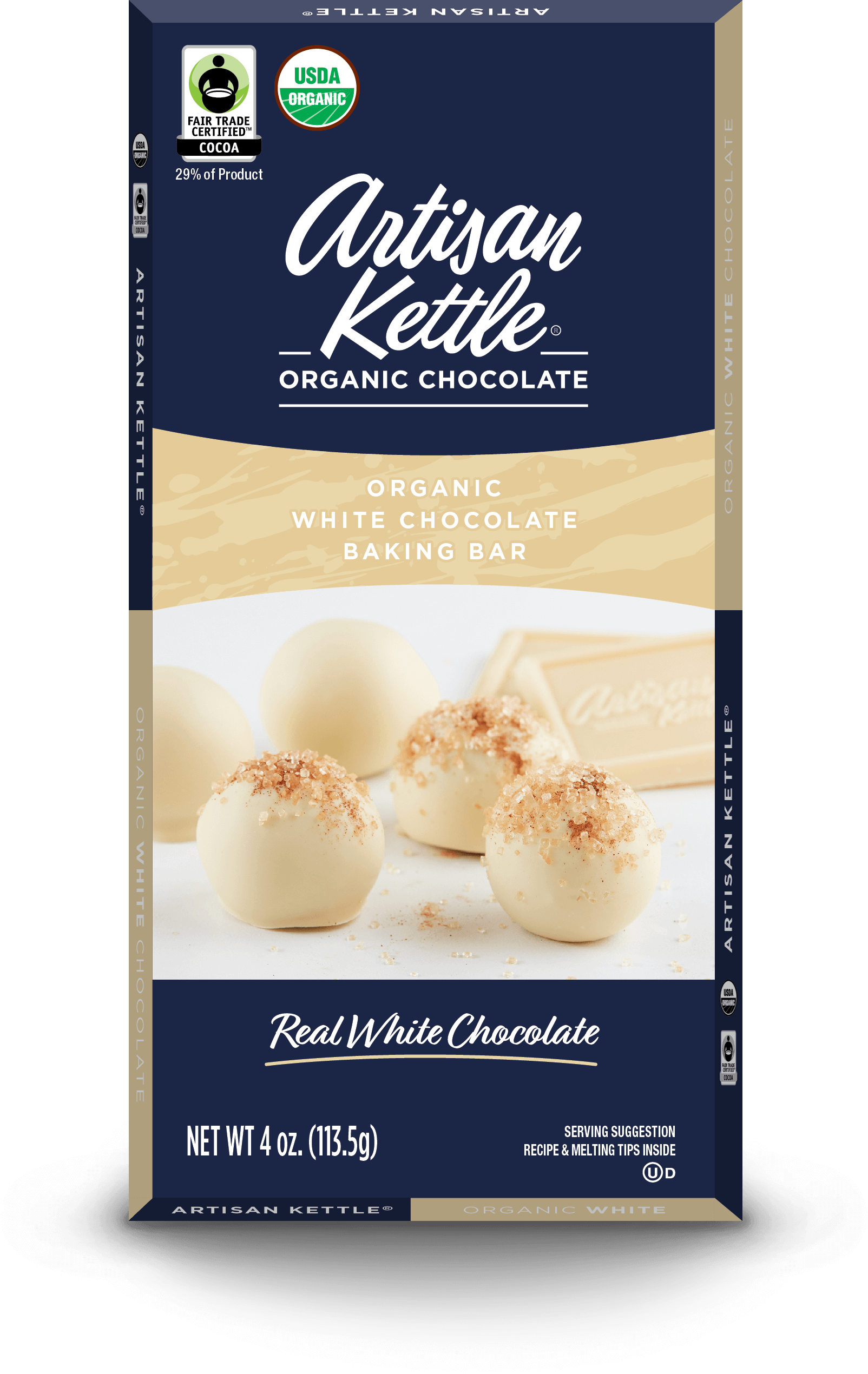 Organic White Chocolate Baking Bar