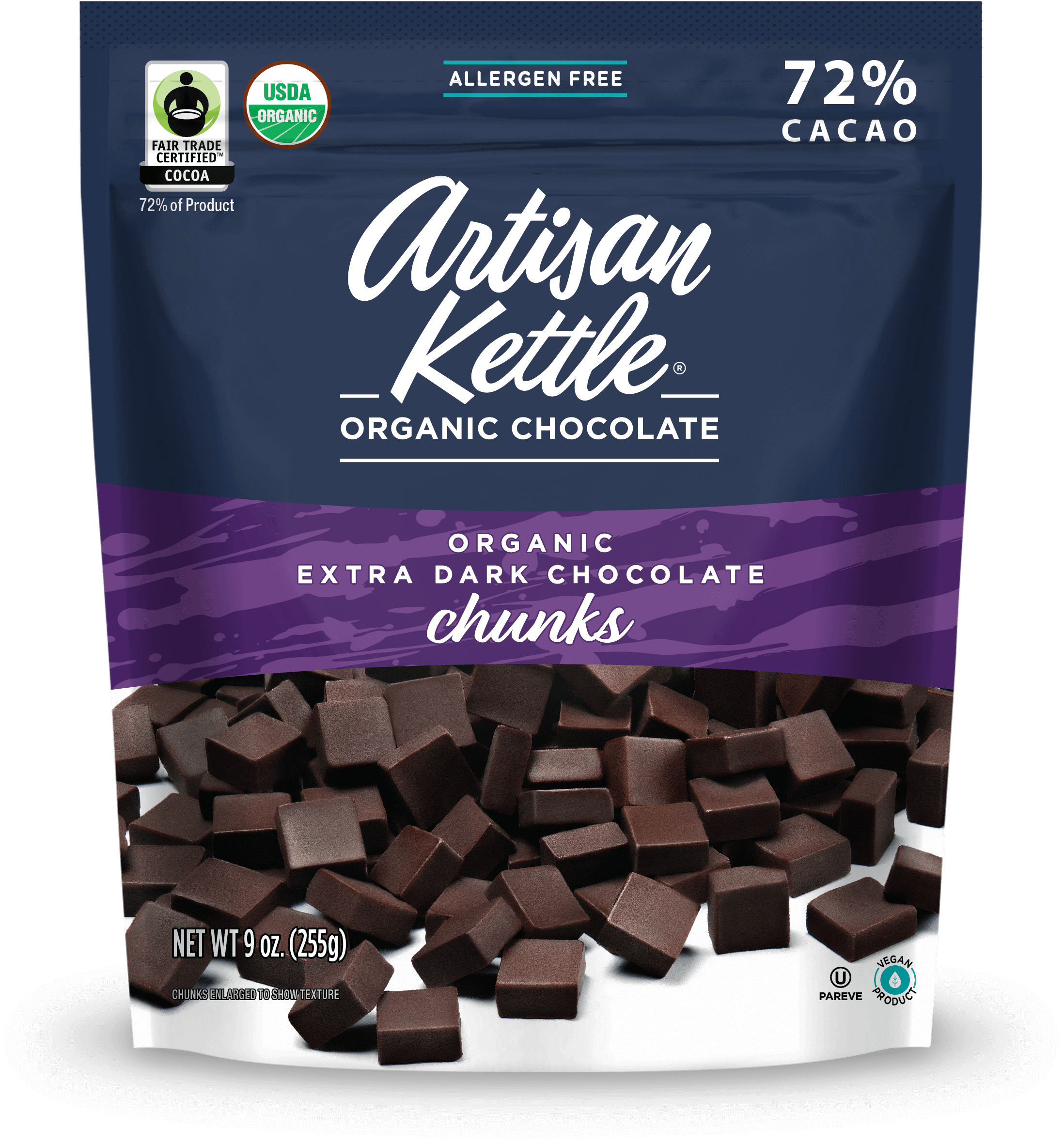 Organic Extra Dark Chocolate Chunks