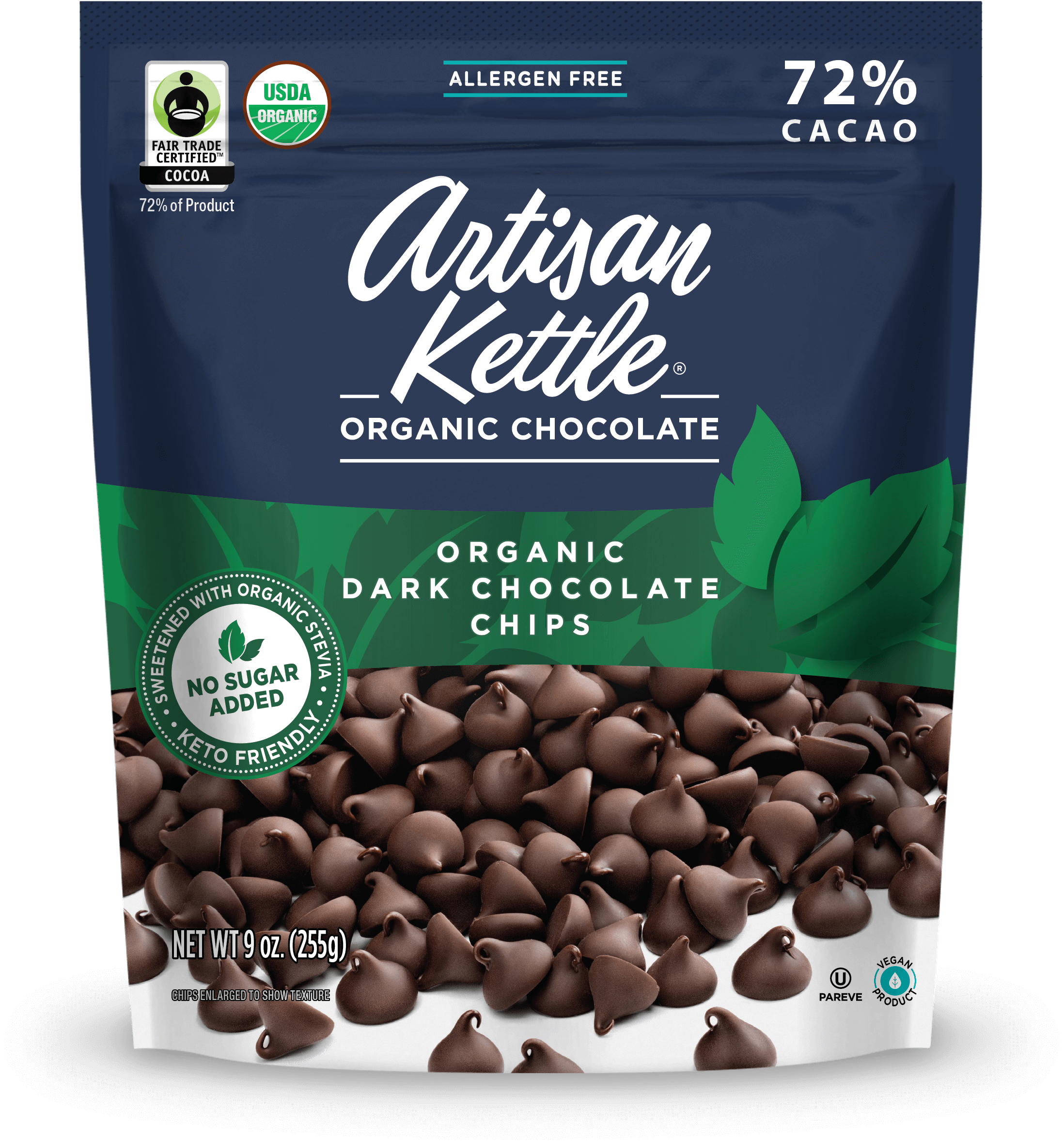 Organic No Sugar Added Dark Chocolate Chips