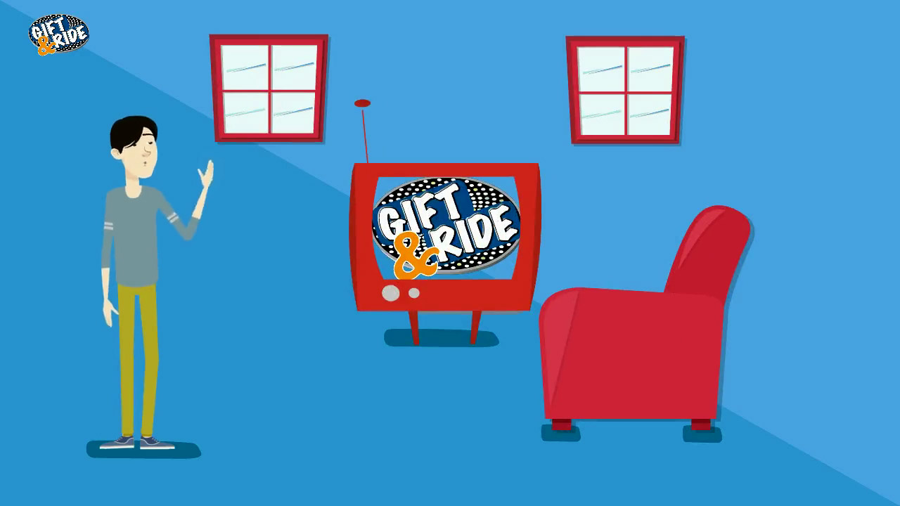 Gift and Ride Animated Video freezeframe