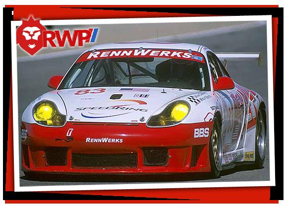 Head-on photo of Porsche 996 GT3 Cup Car
