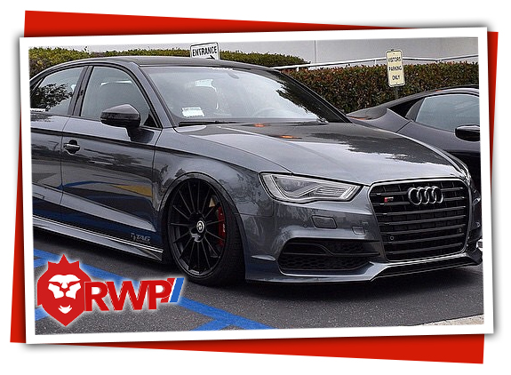Audi with air ride and aftermarket air springs and air suspension system