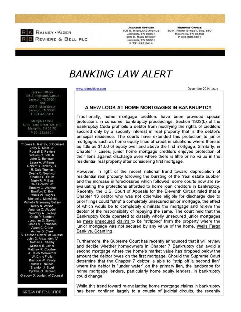BANKING LAW ALERT Dec2014_Page_1