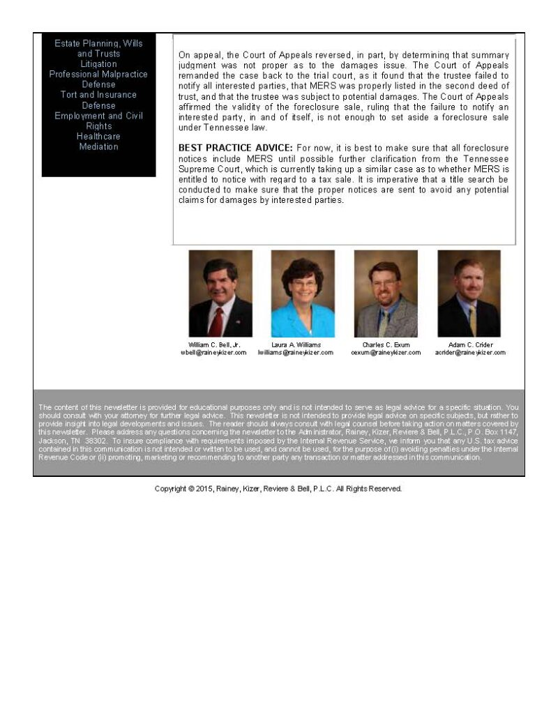 Page 2 Banking Law Alert