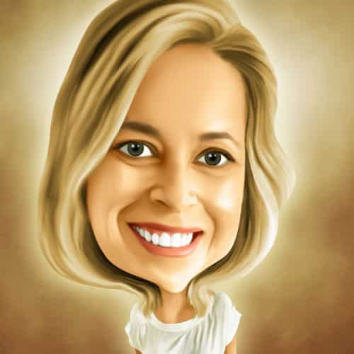 Caricature of Danielle Burke at Automax Recruiting