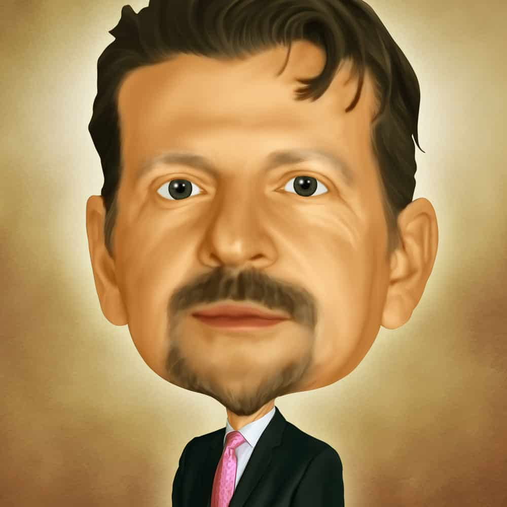 Caricature of Jeff Collins at Automax Recruiting