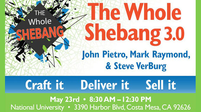 A Special SCORE Workshop: The Whole Shebang 3.0