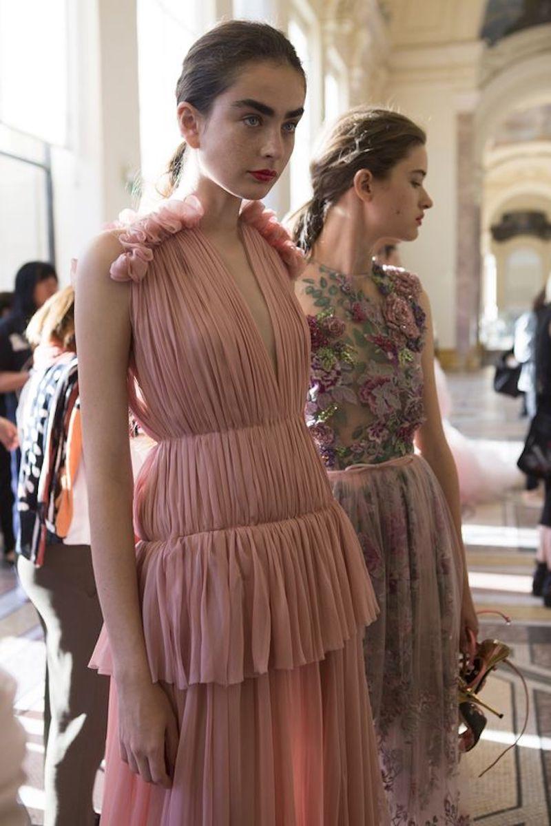 Giambattista Valli Fall 2017 Couture Fashion Show Backstage,
