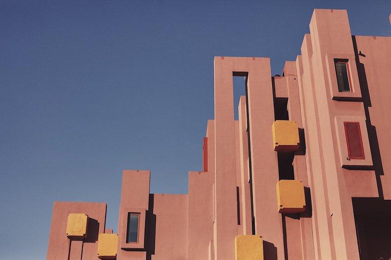 Photographer Nacho Alegre captures views of Ricardo Bofill's La Muralla Roja in Alicante