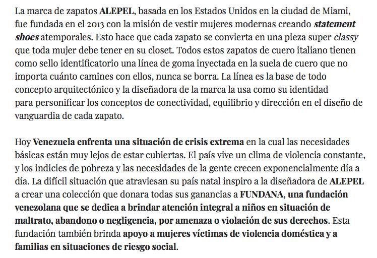 Fashion for a cause: Nuestro accesorio preferido a beneficio de Venezuela