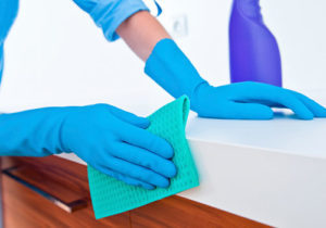 We disinfection our dental offices at the end of the day