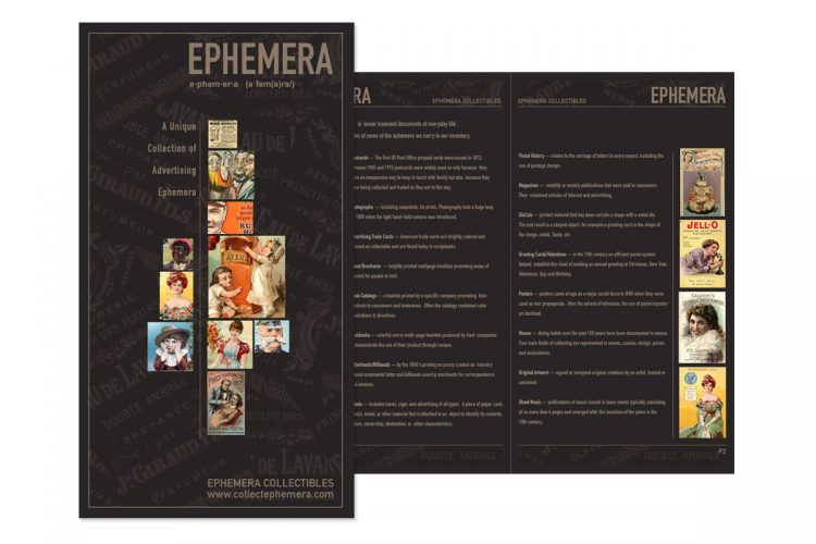 Ephemera Mailer Catalog (Sample)