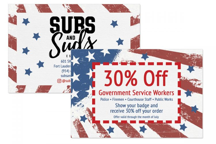 Subs and Suds Coupon