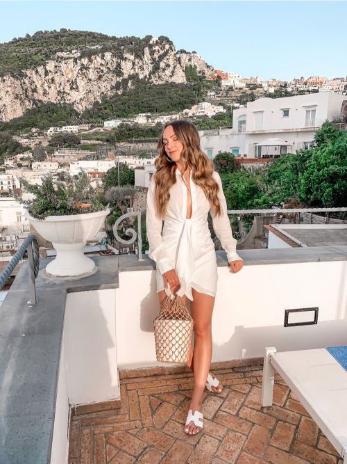 Summer view of Capri, Italy