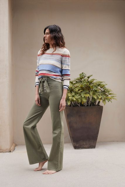 Veronica Beard sweater and pants - late summer style