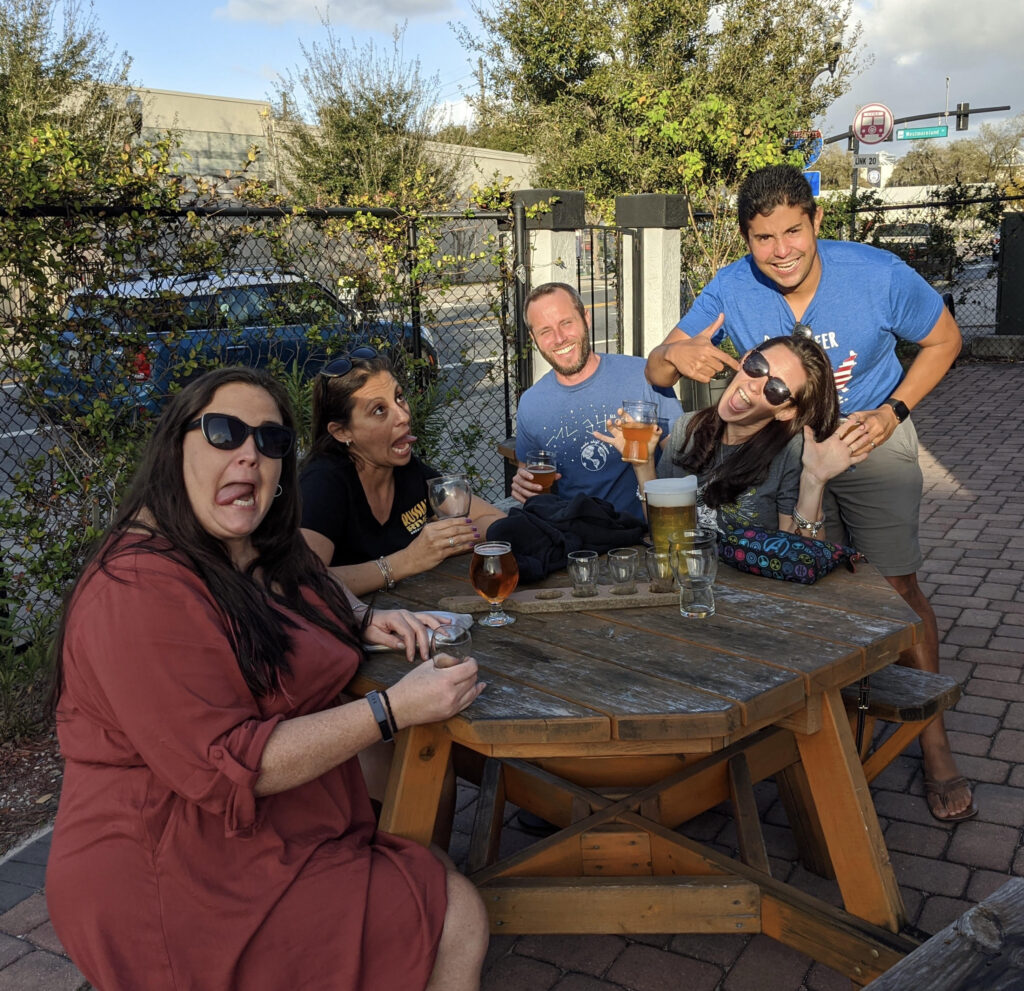 Group picture taken at Broken Strings Brewery in Orlando, FL.