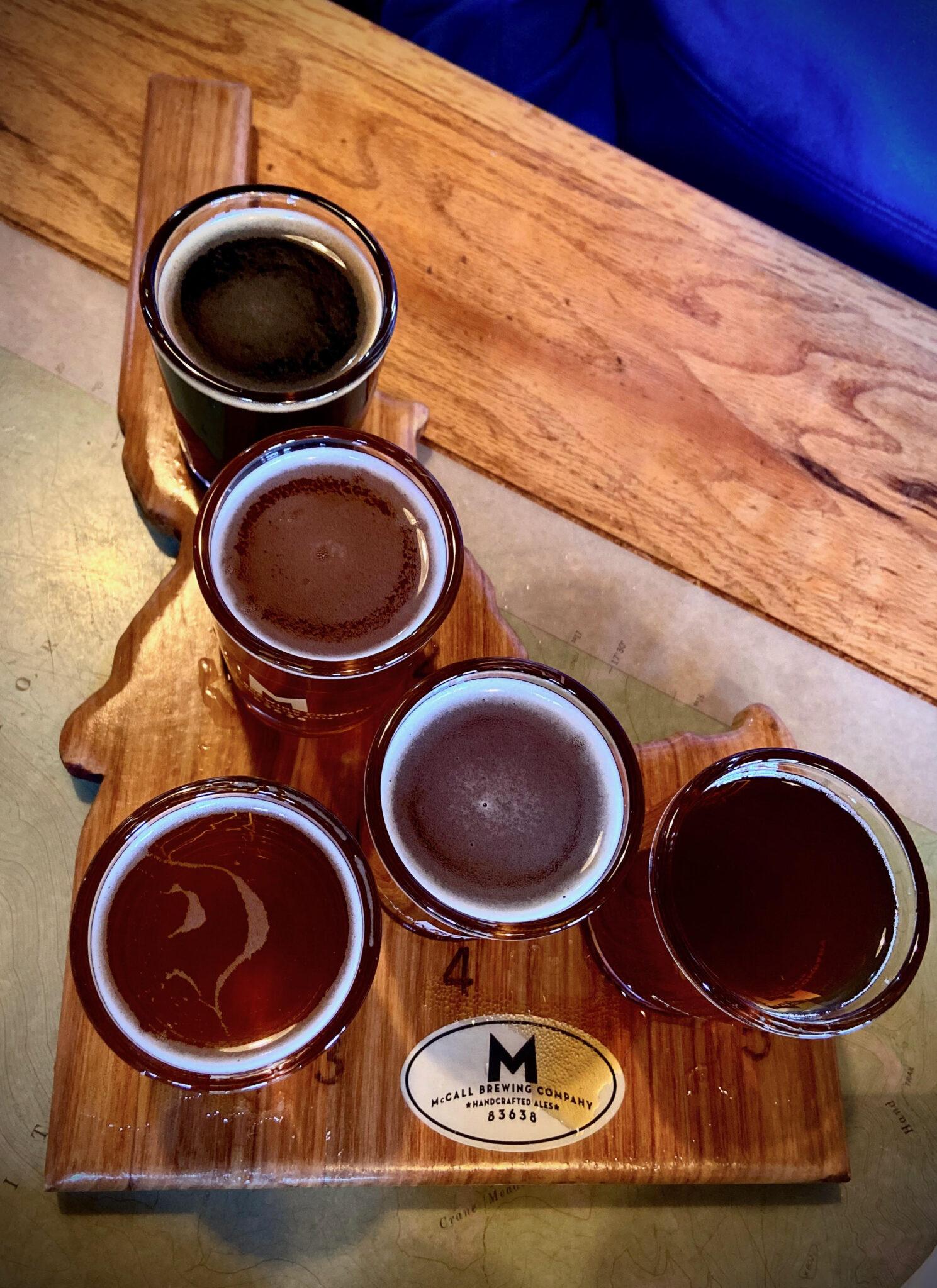 Flight of Beer in Idaho
