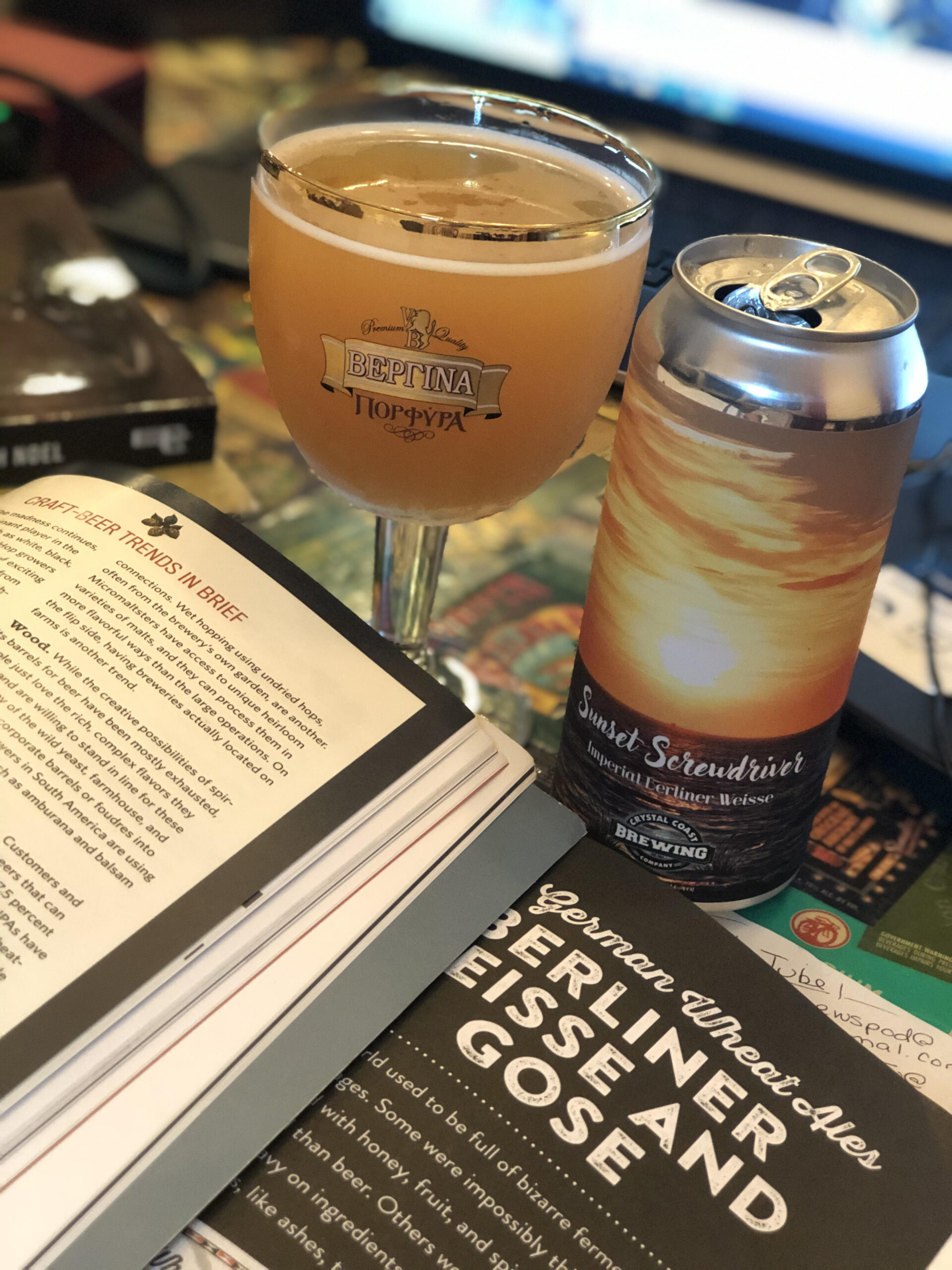 Sour beer from Crystal Coast Brewing