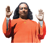 Yogananda with arms raised - small