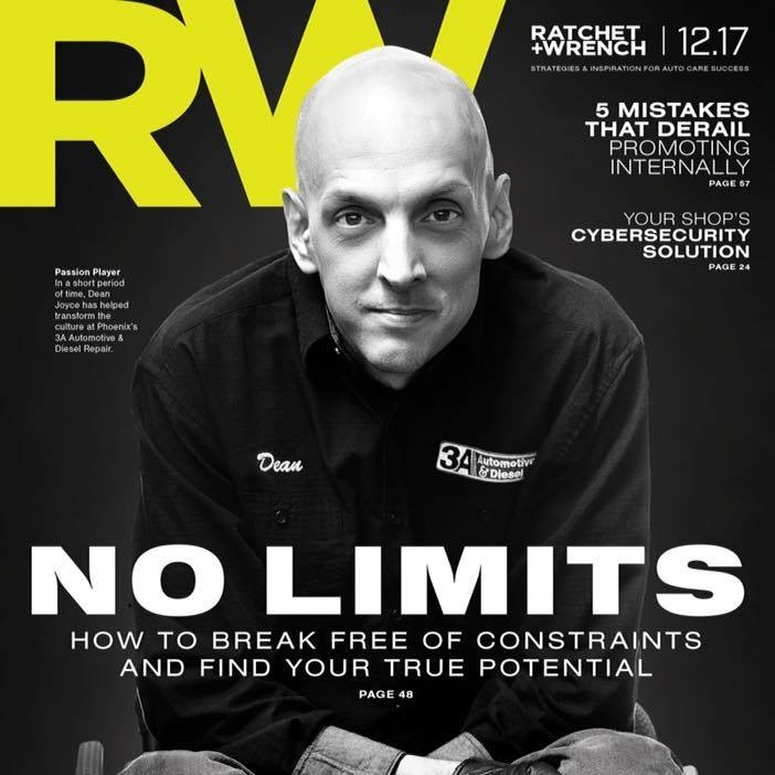 Me on the cover of Ratchet and Wrench Magazine