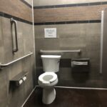 Accessible bathroom stall.
