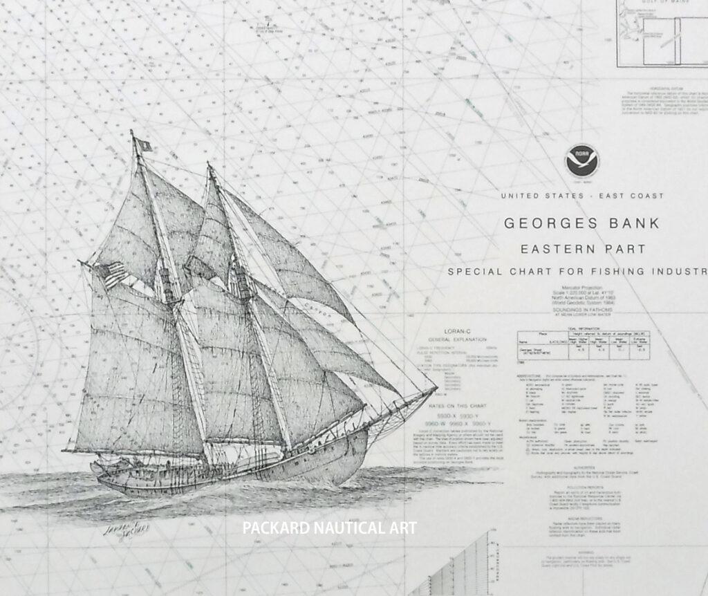 Gloucester fishing schooner George Haskell