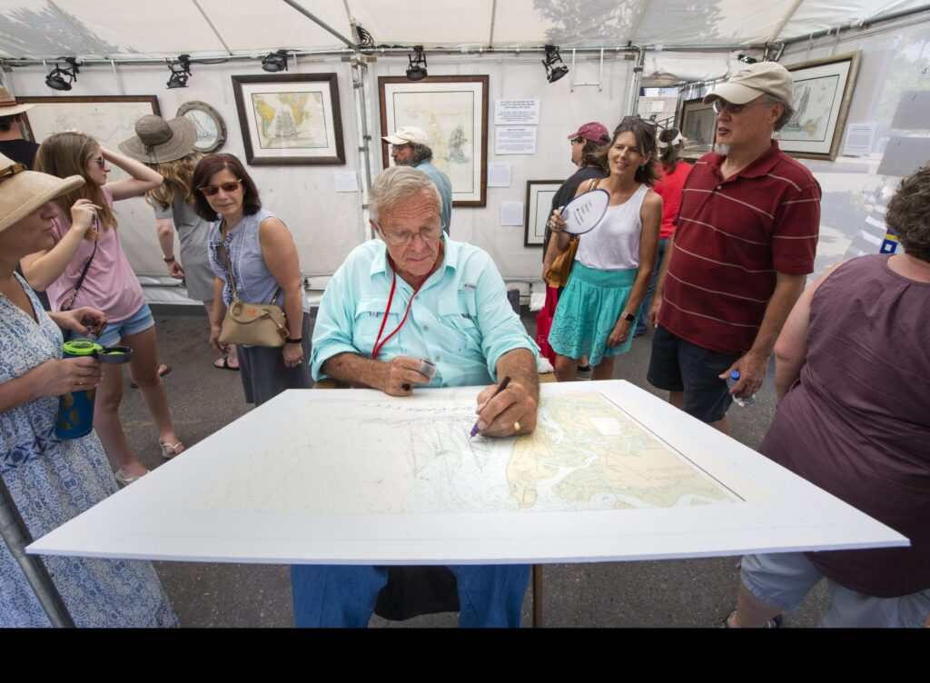 Lawrence Packard working at the Cherry Creek Art Festival, Denver, CO