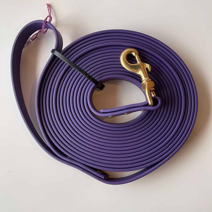 "Kirsten's Canine 3/4"" Long Line Purple"
