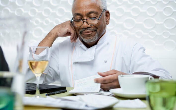 keeping accounting records for a small restaurant