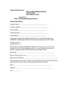 autopay authorization form pdf