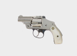 """Smith & Wesson .38 Safety Hammerless 5th Model RARE 2"""" Nickel Bicycle Gun"""