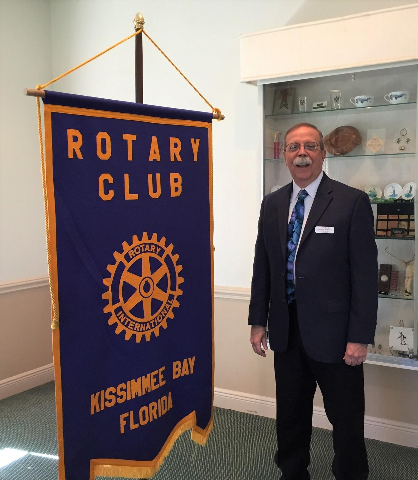 Lennie Burke at Rotary Club of Kissimme, FL