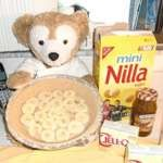 Duffy the Disney Bear shows how to make his Yummy! Carmel Drizzle Pie.