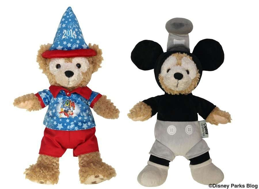 """Duffy Disney Bear 12"""" 2014 Celebration Duffy and Steamboat Willie"""