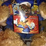 Duffy the Disney Bear shows off his Donald Duck Disney Annual pass