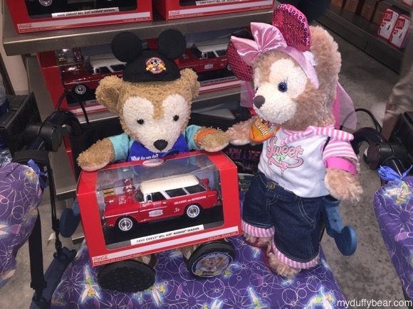 Duffy the Disney Bear wants to buy the 1955 Chevy Nomad BelAir Coca-Cola Wagon to play with